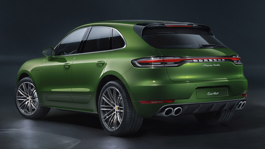 2020 Porsche Macan Turbo 2.9 rear view