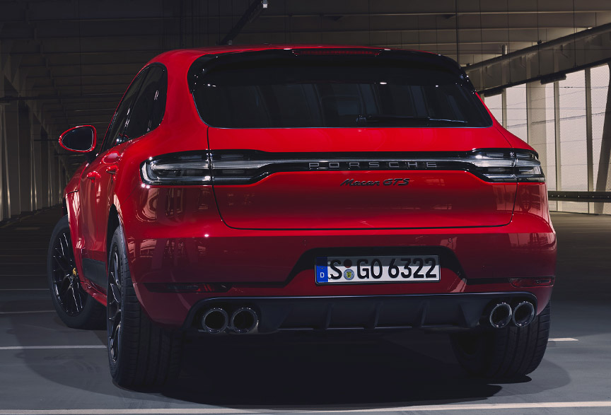 2020 Porsche Macan GTS rear view