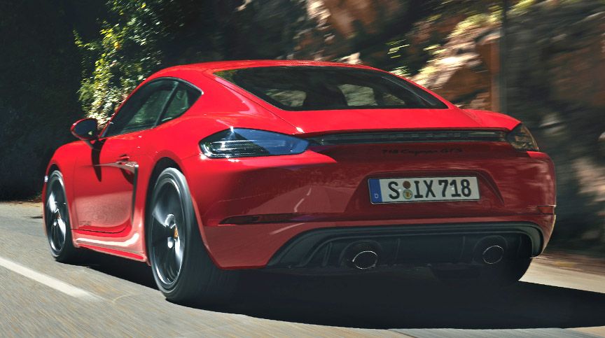 718 Cayman GTS 4.0 exhaust ends