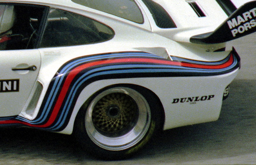 1976 Nürburgring 1000 km, Martini Racing Porsche 935 with boxed rear fenders