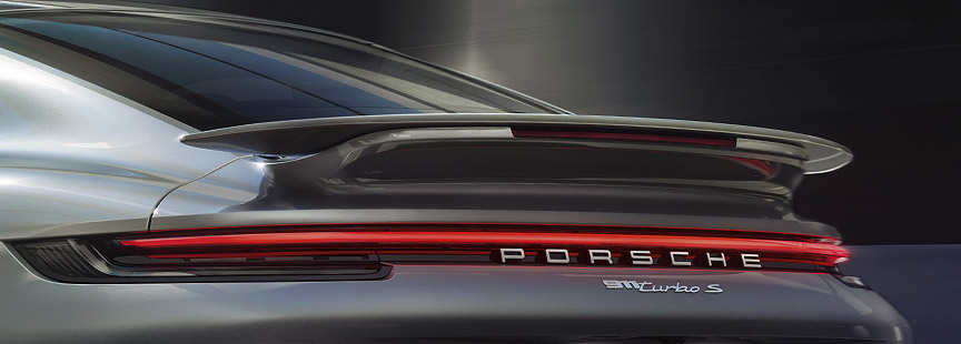 Porsche 911 992 Turbo S rear spoiler
