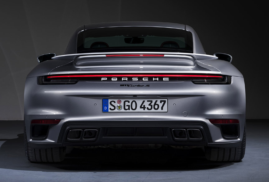 Porsche 911 992 Turbo S rear view
