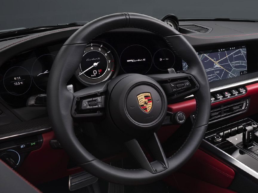 Porsche 911 992 Turbo S steering wheel