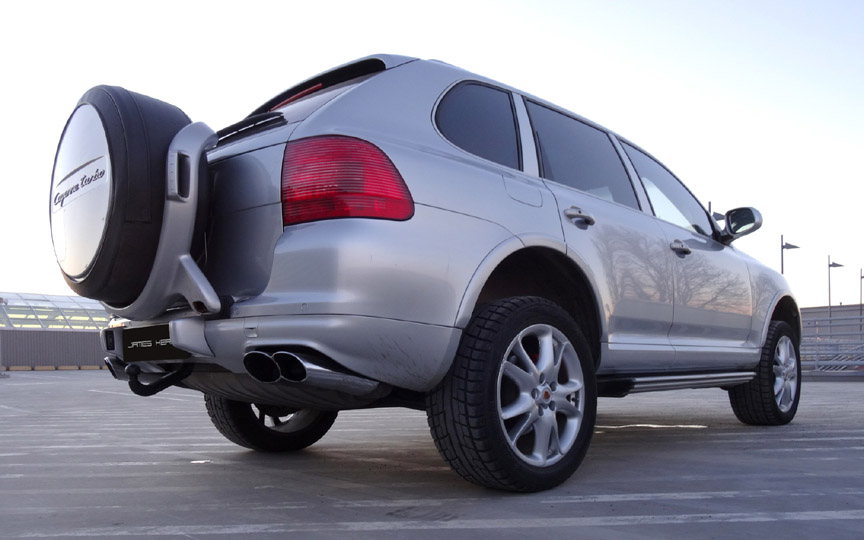Porsche Cayenne Turbo with spare wheel carrier