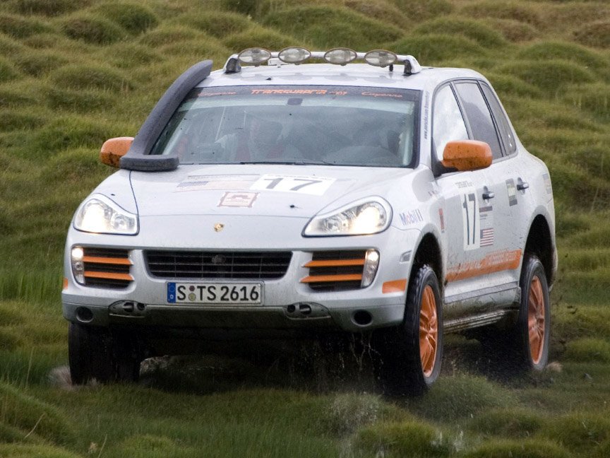 2007 Trasnssyberia rally winning Porsche Cayenne S of Rod Millen