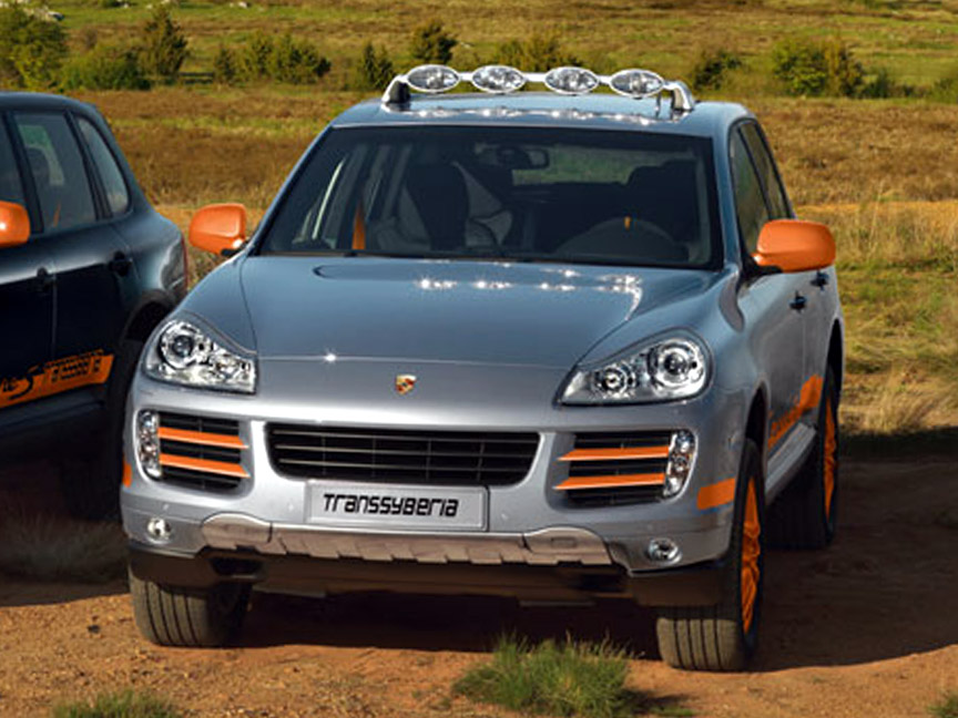 2009 Porsche Cayenne S Transsyberia in Silver/Orange