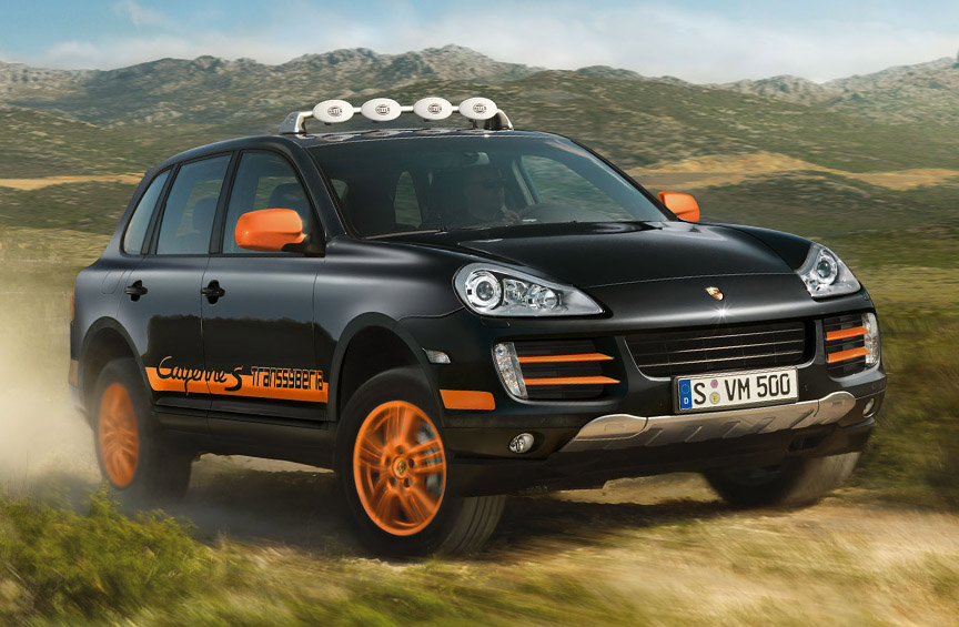 2009 Porsche Cayenne S Transsyberia in Black/Orange