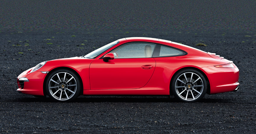 Red Porsche 911 991.1 Carrera