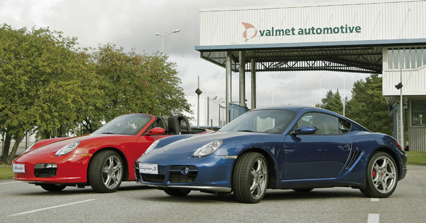Porsche Boxster and Cayman made at Valmet in Finland