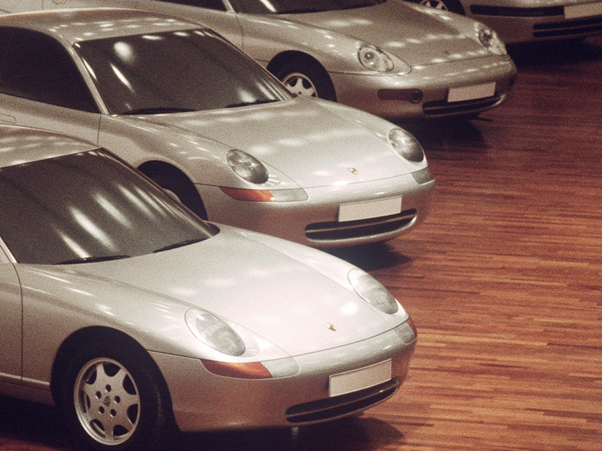 Porsche 989 full size design models