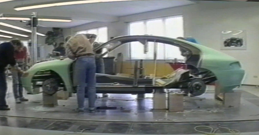 Building of a Porsche 989 full size model
