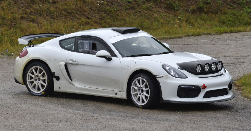 Porsche Cayman 981 Rally car