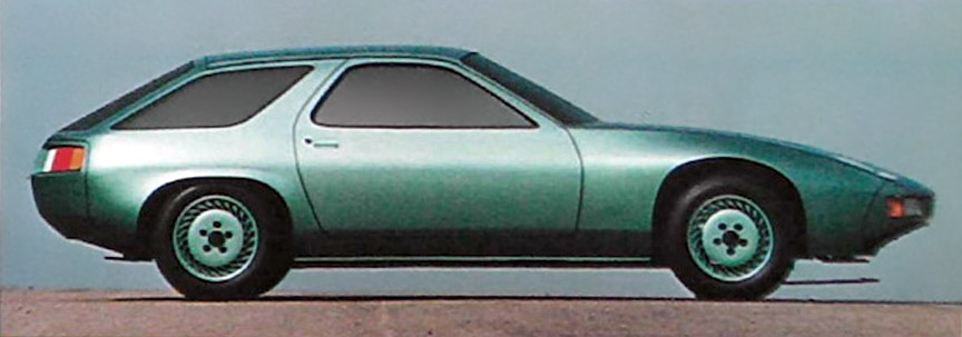 Porsche 928 shooting brake mock-up (clay model)