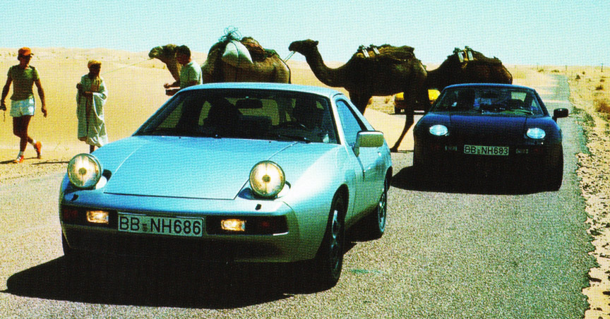 Porsche 928 prototypes in Africa