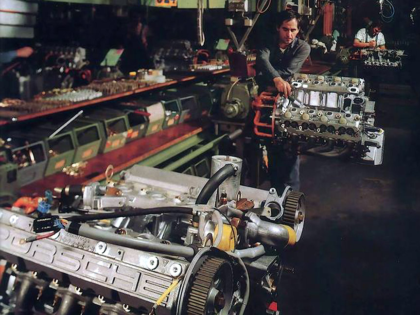 Porsche 928 engine production