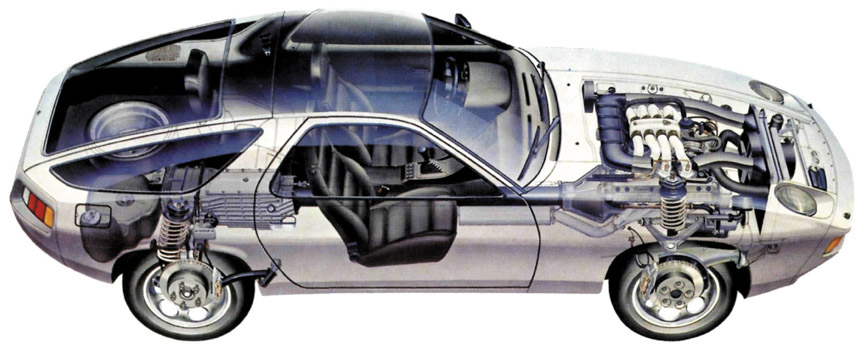 Porsche 928 see-through picture