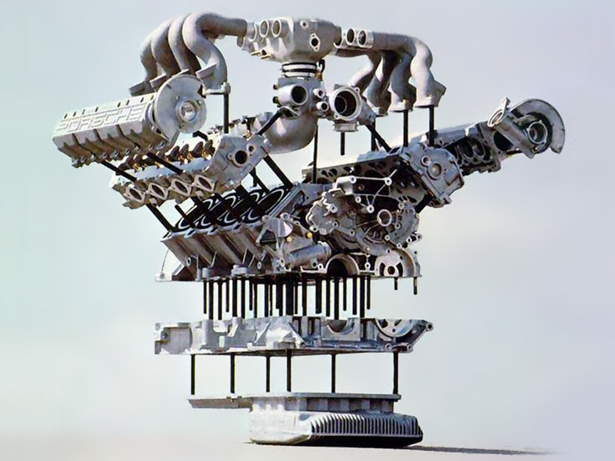 Porsche 928 engine components
