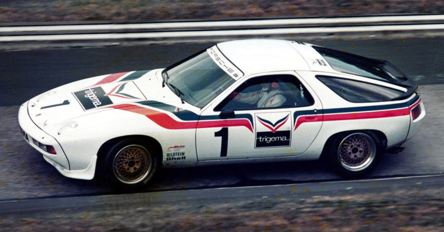 Porsche 928 S racing car on Nürburgring