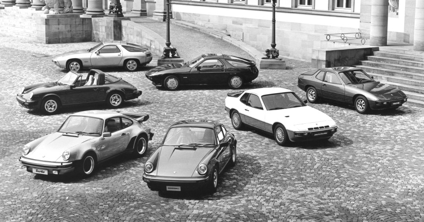 Porsche 911 SC, 911 Turbo, 924, 924 Turbo, 928 and 928 S