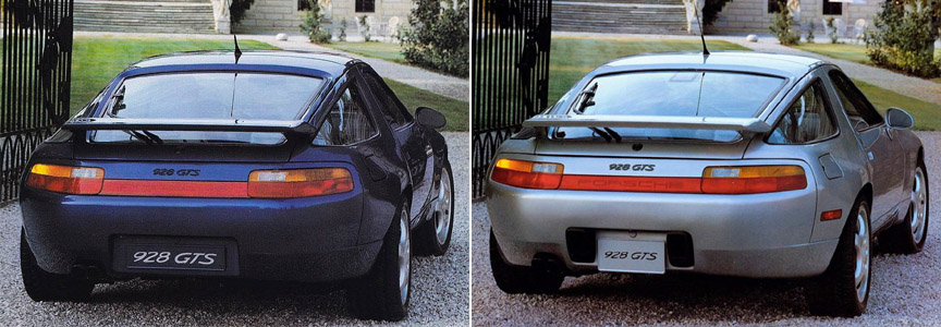 Porsche 928 GTS Euro version vs USA version