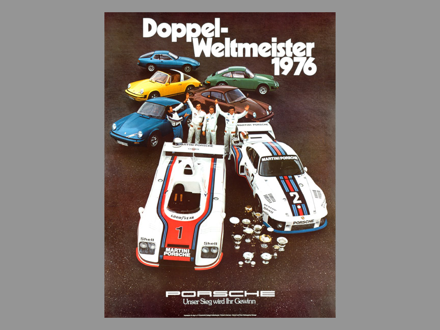 1976 Double world champion Porsche poster