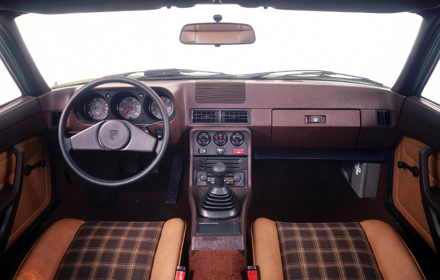 Early Porsche 924 interior