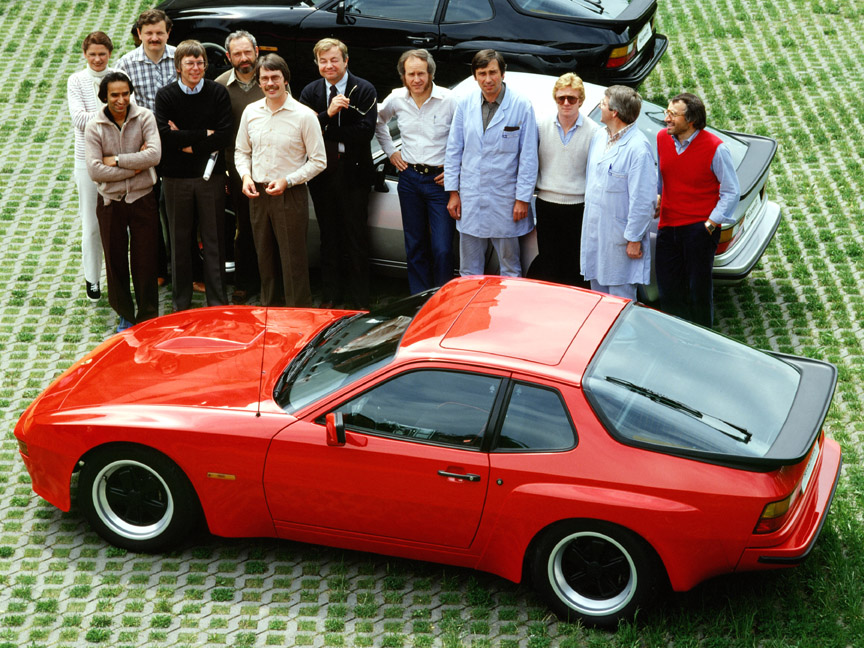 Porsche 924 Carrera GT engineers