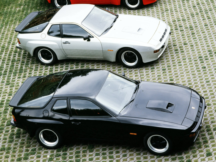 Silver and black Porsche 924 Carrera GT
