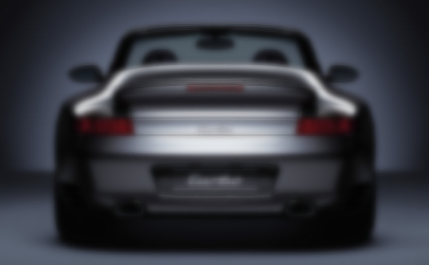 Porsche 911 996 Turbo Cabrio rear view