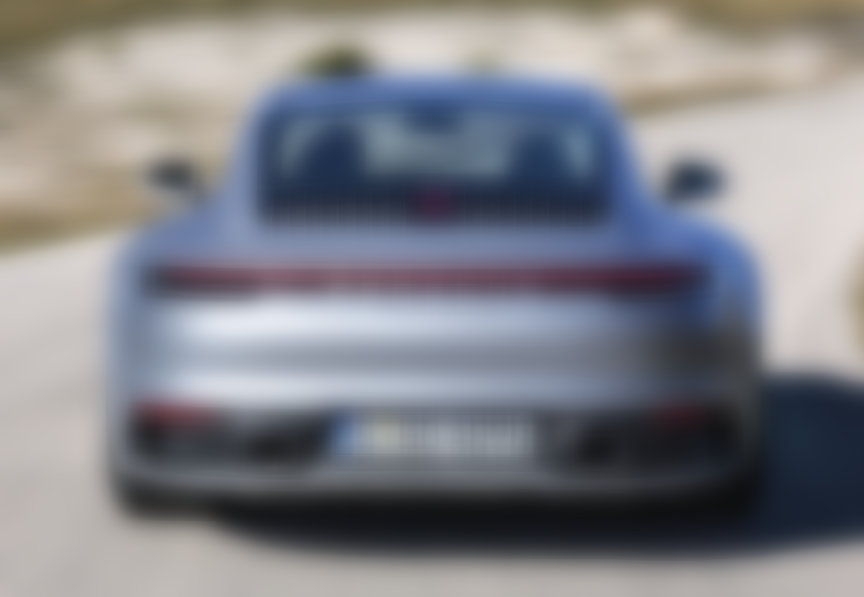Porsche 911 992 (2020 model) Carrera 4S rear view