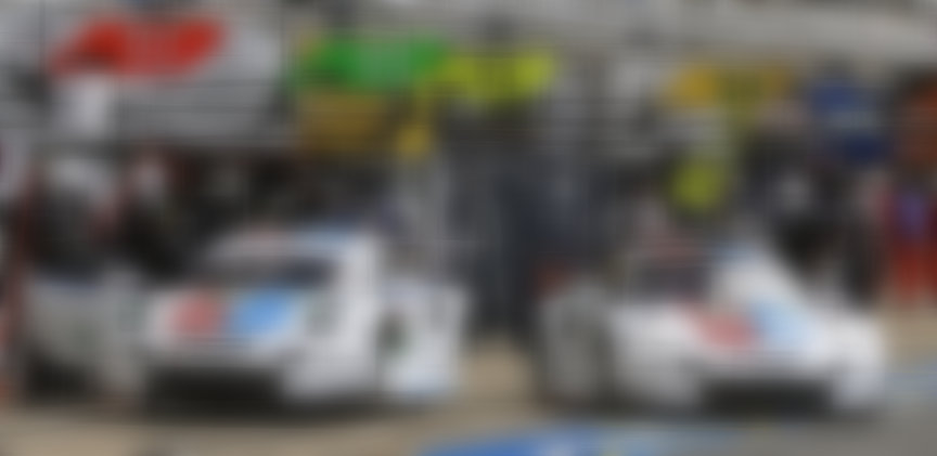 2019 Le Mans practise, pit stop of Brumos liveried Porsches