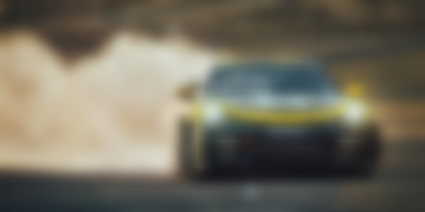 2019 Porsche 718 Cayman GT4 racing car drifting