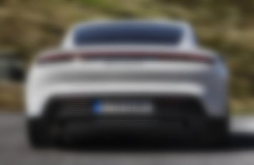 2020 Porsche Taycan Turbo S rear view