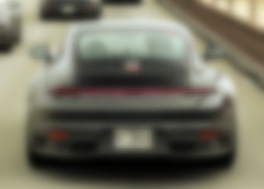 Porsche 911, model year 2019 (992-generation), prototype, rear lamp panel with camouflage