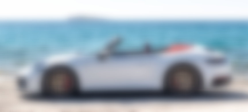 2019/2020 Porsche 911 992 Cabriolet, top down, side view