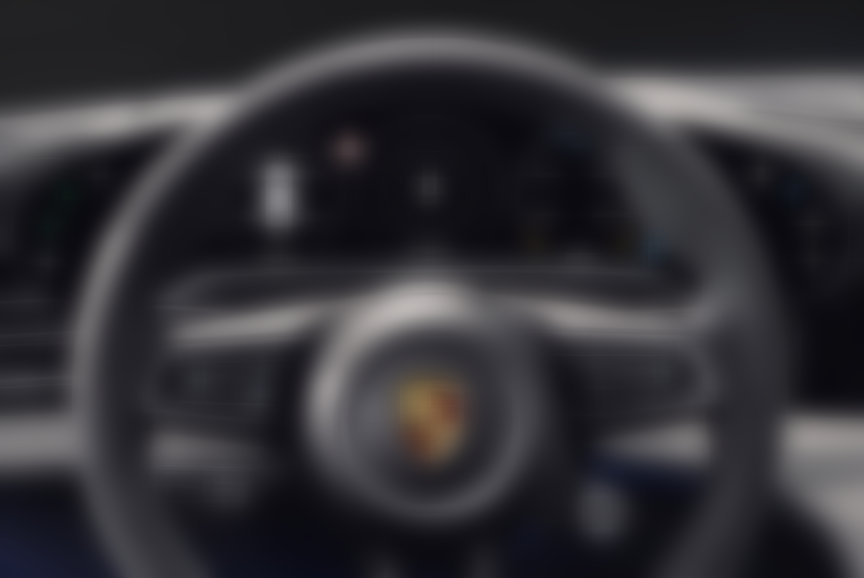 2020 Porsche Taycan steering wheel and instrument cluster