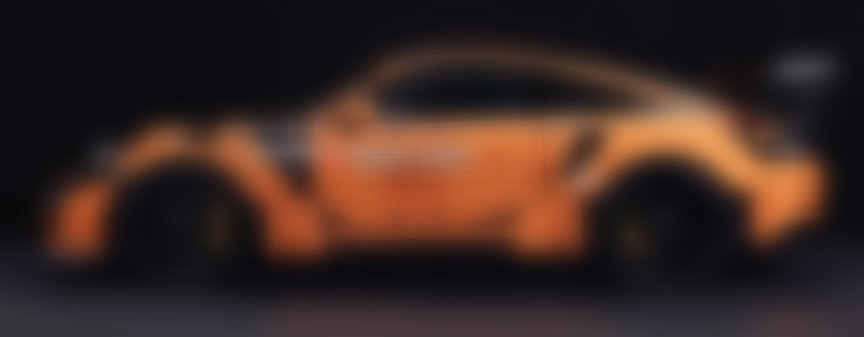 Porsche 911 991 GT3 RS real car in Lego-look wrap