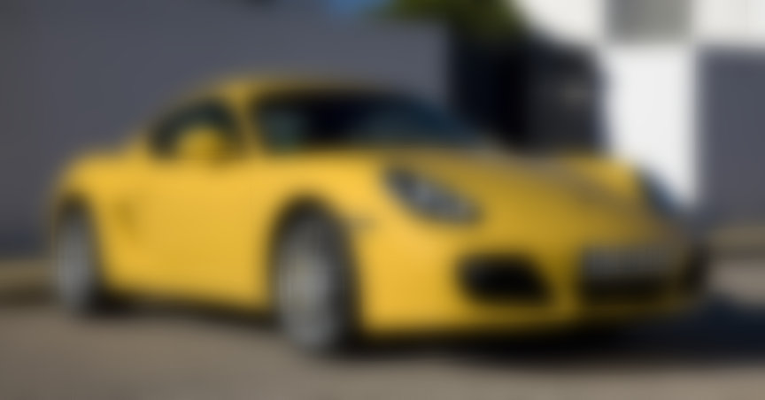 Yellow Porsche Cayman 987.2
