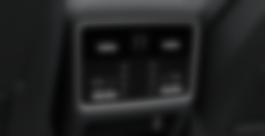 Cayenne rear AC controls